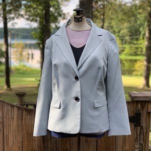 Beautiful pale blue Kasper 2 button blazer